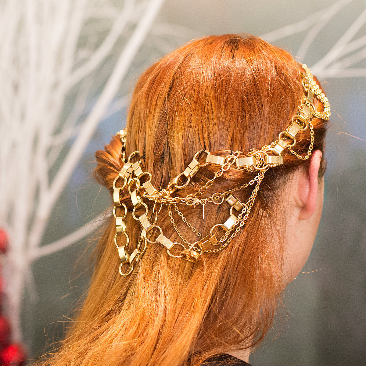 Holiday hair, hair accessories, ted gibson, Trish Halpin