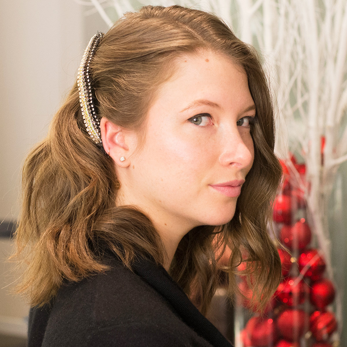 Holiday hair, hair accessories, ted gibson, Dianna Cohen