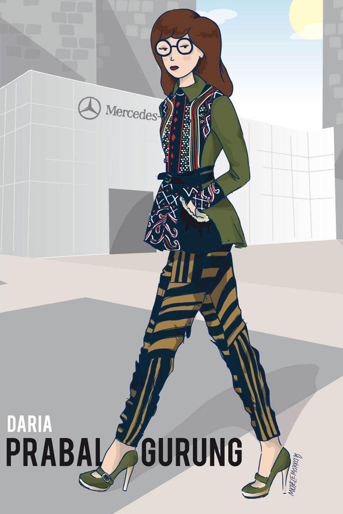Daria at Fashion Week
