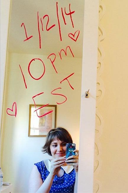 Lena Dunham Girls instagram season 3 announcement