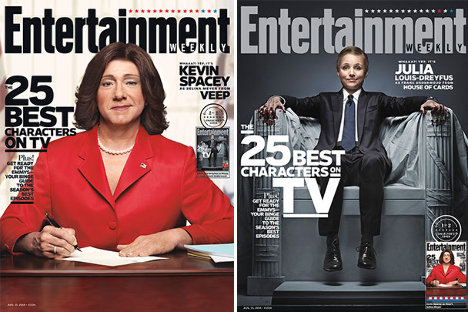 Kevin Spacey, Julia Louis-Dreyfus, Entertainment Weekly, House of Cards, Veep