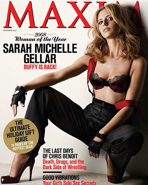 Sarah Michelle Gellar Poses for Maxim