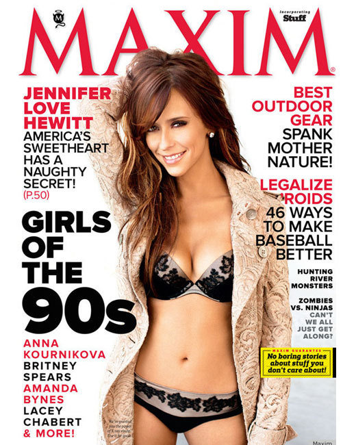 Jennifer Love Hewitt Poses for Maxim