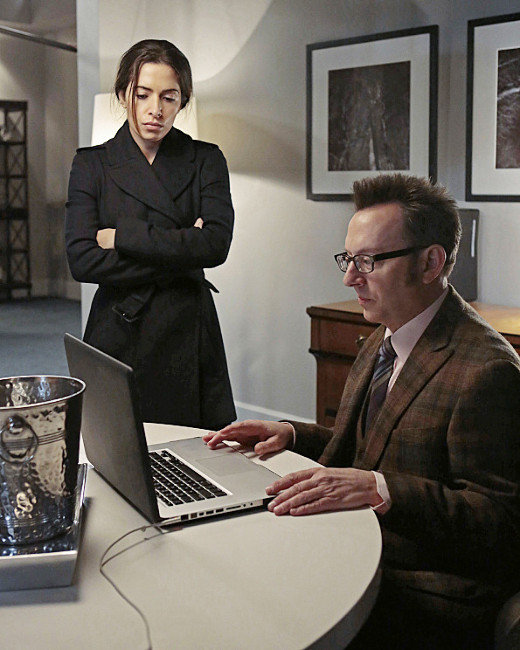Michael Emerson and Sarah Shahi, Person of Interest