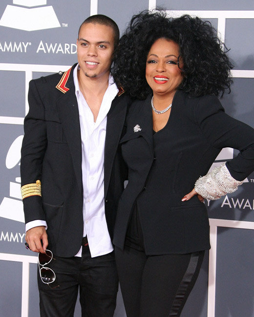 Diana Ross and Evan Ross