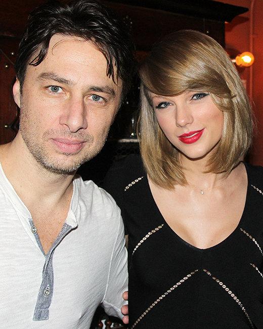 Zach Braff and Taylor Swift