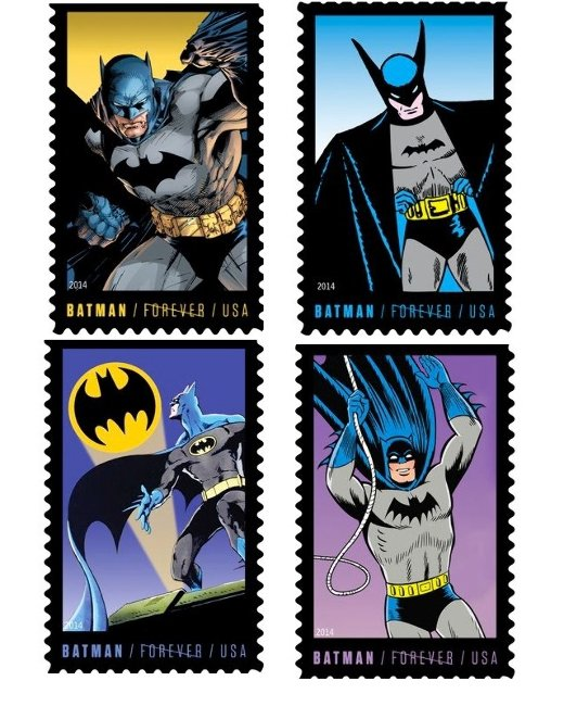 USPS Batman Stamps