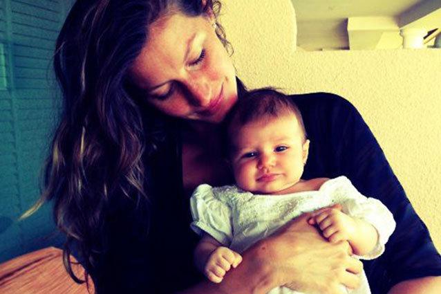 gisele bundchen first pics baby vivian