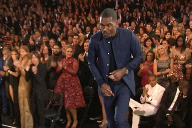 Chris Brown Remains Seated as Frank Ocean Accepts His Grammy