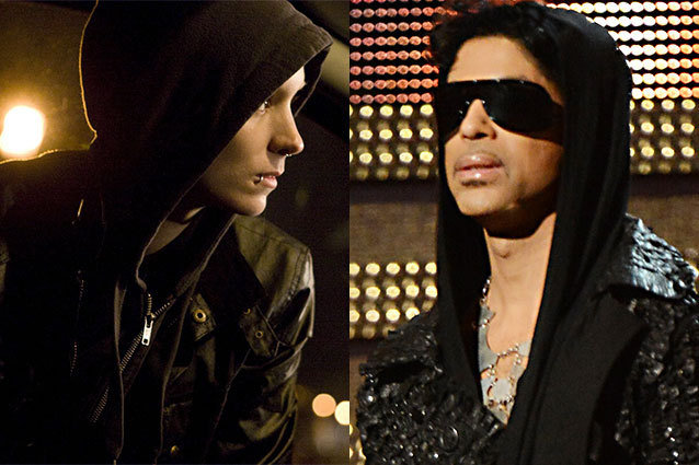 At the Grammys Prince Was Dressed Like the Girl With the Dragon Tattoo