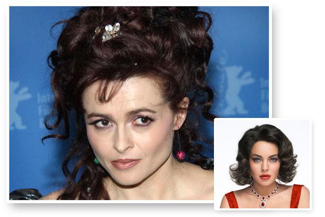 Helena Bonham Carter Liz Taylor vs. Lindsay Lohan Liz Taylor