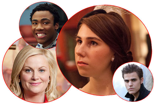 Valentines Day for TV Characters, Girls, Parks and Rec, Vampire Diaries, Community