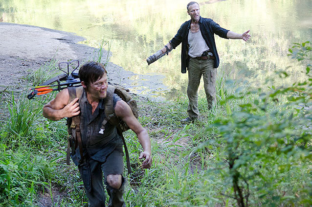 The Walking Dead Norman Reedus Michael Rooker Home Recap