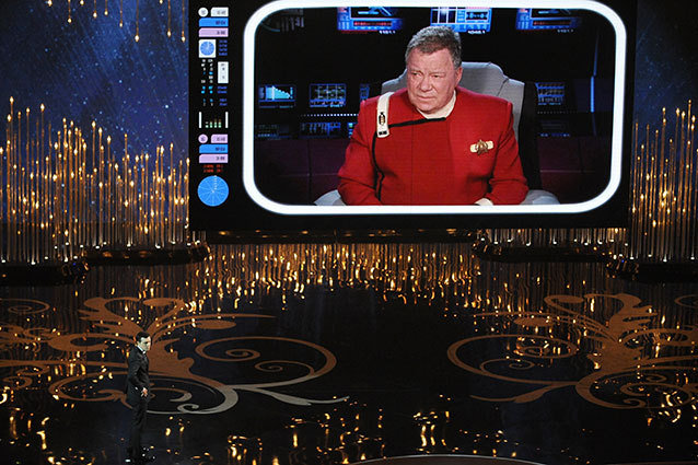 William Shatner as Captain Kirk at the 2013 Academy Awards