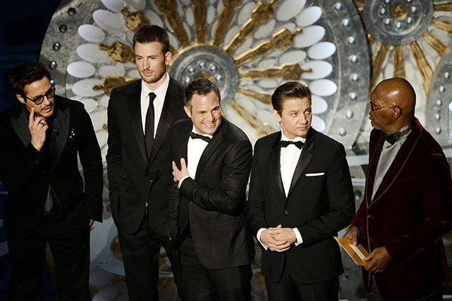 Samuel L. Jackson, Robert Downey Jr. and the 'Avengers' Cast Present at the Oscars