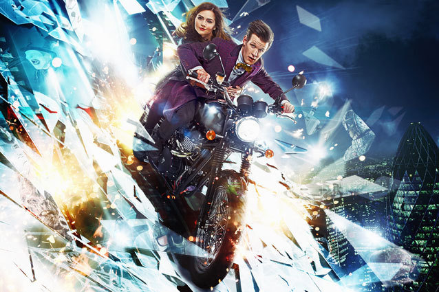 Matt Smith and Jenna-Louise Coleman as The Doctor and his companion, Clara