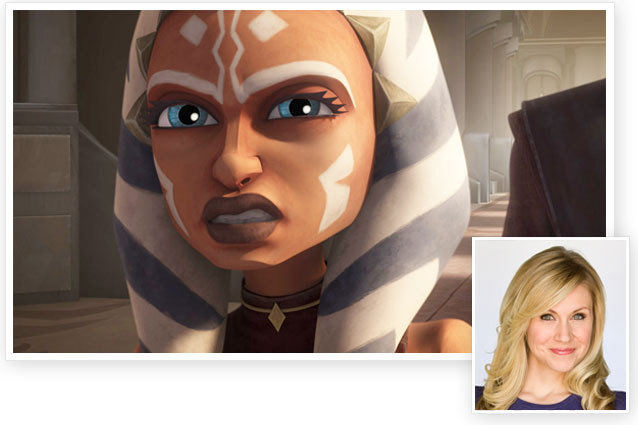 Ashley Eckstein as Ahsoka Tano on Star Wars: The Clone Wars