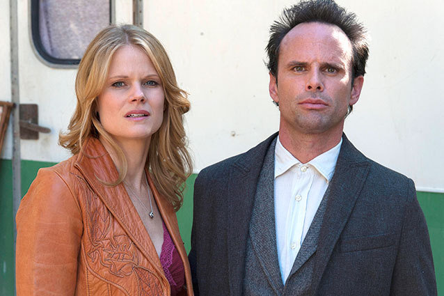 Joelle Carter and Walton Goggins Justified