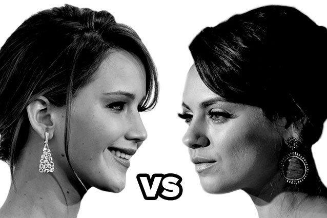 Jennifer Lawrence versus Mila Kunis