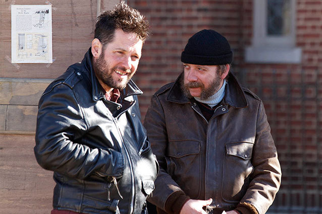 Paul Rudd and Paul Giamatti in director Phil Morrison's Almost Christmas