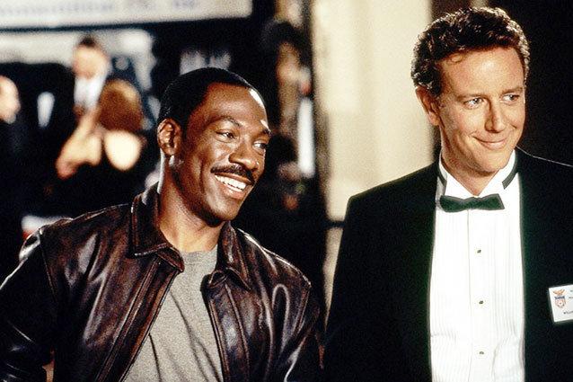 Eddie Murphy and Judge Reinhold in Beverly Hills Cop