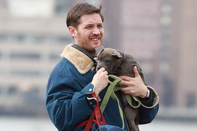 Tom Hardy and His Puppy