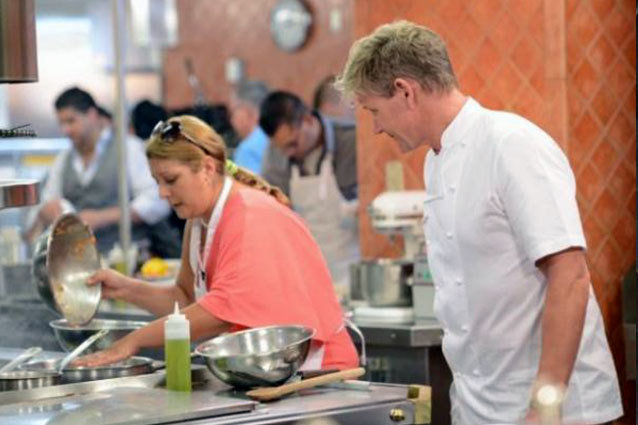 Gordon Ramsay yells at people on the Hell's Kitchen Season 11 premiere