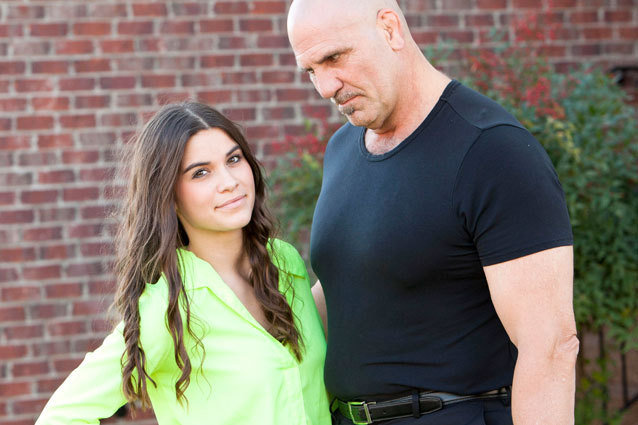 Kolby Koloff gets the sex talk in the new episode of Preachers' Daughters on Lifetime