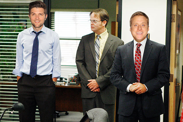 The Office Adam Scott and Alan Tudyk as Jim and Michael