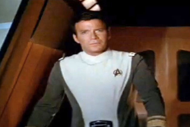 William Shatner as Captain Kirk in Star Trek The Motion Picture