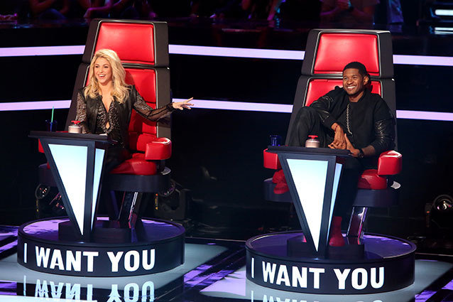 The Voice Shakira and Usher