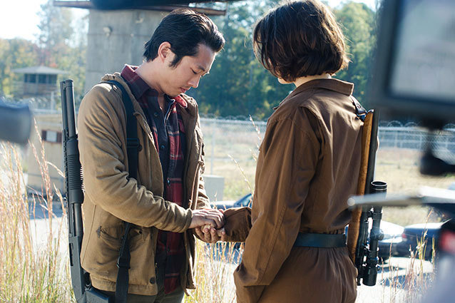 The Walking Dead Steven Yeun interview Glenn and Maggie proposal