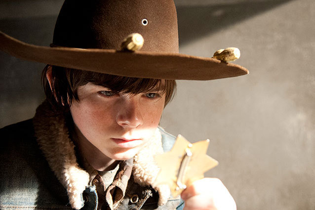Chandler Riggs on The Walking Dead