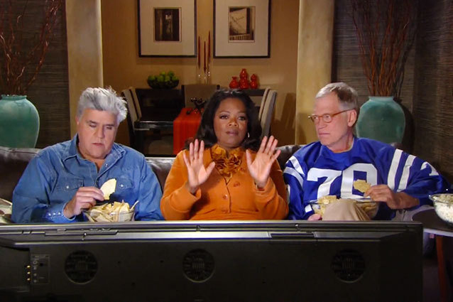 Leno and Letterman with Oprah - Super Bowl Commercial