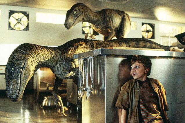 Jurassic Park kitchen raptor scene