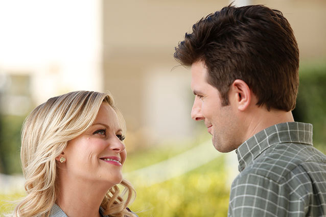 Amy Poehler and Adam Scott in Parks and Rec Partridge