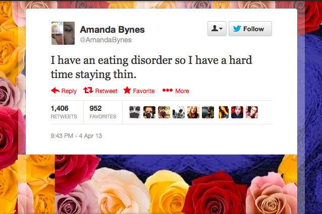 Amanda Bynes Tweets an Eating Disorder