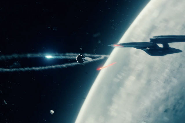 John Harrison's Starship Fires Torpedoes at the Enterprise in Star Trek Into Darkness