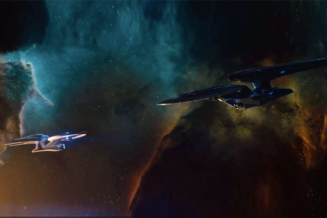 The Enterprise Stares Down John Harrison's Hulking Starship in Star Trek Into Darkness