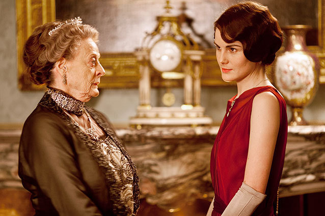 Maggie Smith as the Dowager Countess and Michelle Dockery as Lady Mary
