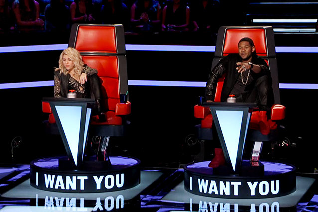 shakira and usher the voice leg