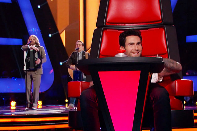 adam slouching the voice
