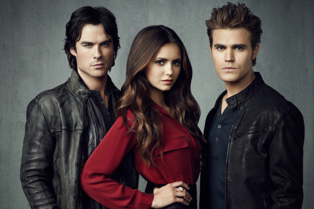 The Vampire Diaries, Nina Dobrev, Ian Somerhalder, Paul Wesley