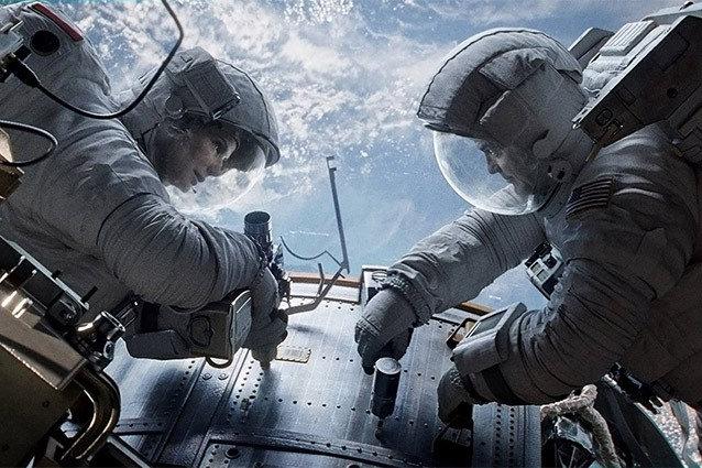 Gravity, Sandra Bullock, George Clooney