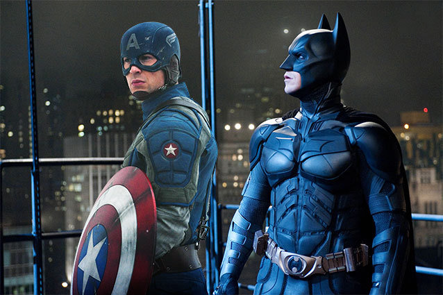 Captain America and Batman Cosplayers Save Cat In Tree