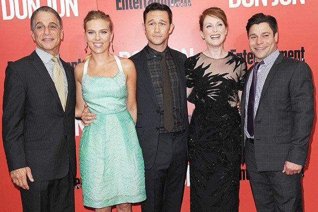 Tony Danza, Scarlett Johansson, Joseph Gordon-Levitt, Julianne Moore, Jeremy Luc at the premiere of 'Don Jon' in New York City.