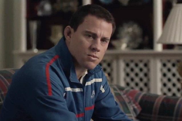 'Foxcatcher' is the based on a true story of Mark Schultz (Channing Tatum) and how paranoid schizophrenic John duPont (Steve Carell) killed his brother, Olympic Champion Dave Schultz (Mark Rufallo).