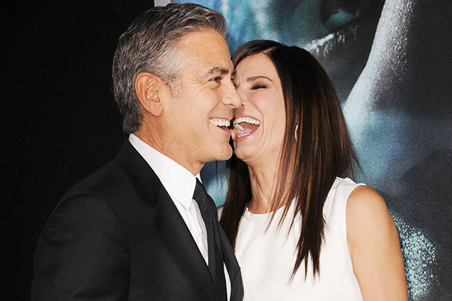 October 01, 2013:  George Clooney, Sandra Bullock attends the 'Gravity' premiere at AMC Lincoln Square Theater in New York City.