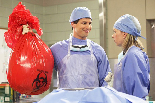 Brooklyn Nine-Nine TV Still, Andy Samberg, Mary Elizabeth Ellis