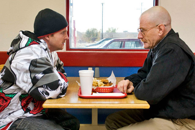 Walt and Jesse from 'Breaking Bad' for a post about them possibly being in a couple episode of the spin-off 'Better Call Saul.